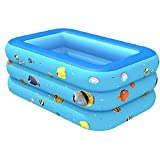 Budstfee Piscina Inflable Large 3 Capas Baby Kid Juego de Agua Padding Bathtub 150x110x55cm 1pc