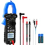 Digital Clamp Meter Multimeter AP-7200A True RMS Clamp Multimeter 1999 Counts for Measure DC AC Voltage Current Resistance Diode Test with NCV, Continuity Buzzer, Data Hold, Backlight