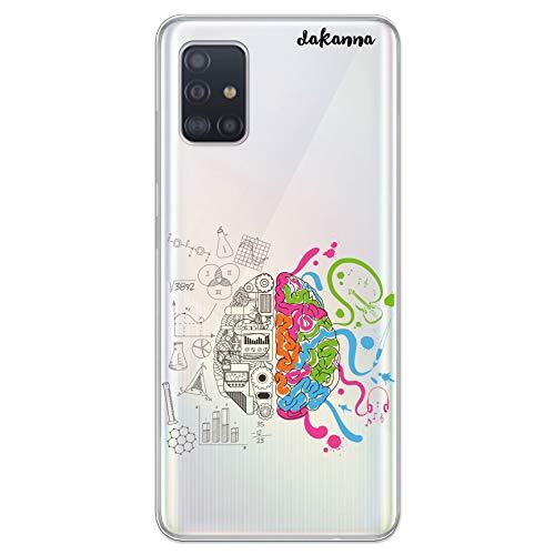 dakanna Funda Compatible con [Samsung Galaxy A51] de Silicona Flexible, Dibujo Diseño [Ciencia, Cerebro y Música], Color [Fondo Transparente] Carcasa Case Cover de Gel TPU para Smartphone