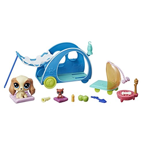 Littlest Pet Shop-E2103ES0 Littlest Pet Shop Campamento Feliz (Hasbro E2103ES0)