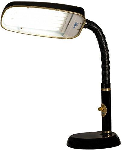BlueMax 1-Light Full Spectrum Desk Lamp Black BL70FSDL-B-V2