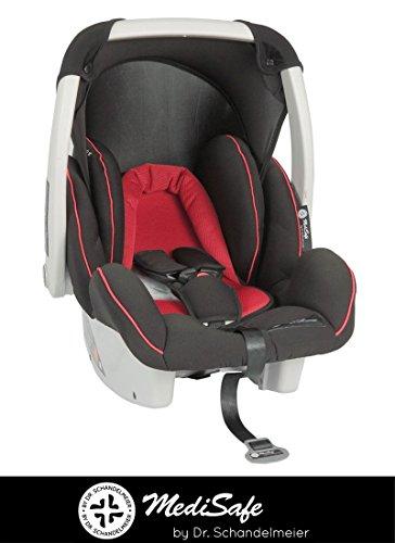 Babyschale Autokindersitz Cocomoon, verschiedene Designs, Gruppe 0+, 0-13 kg, Farbe:Rot-Schwarz