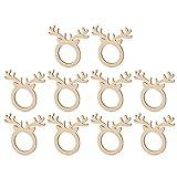 TOYANDONA 10pcs anillos de servilleta de navidad servilleteros en forma de reno...