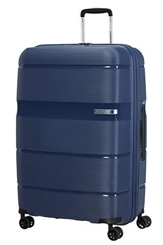 American Tourister Linex - Spinner L Koffer, 76 cm, 102 L, Blau (Deep Navy)