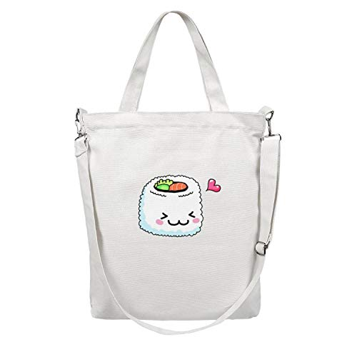 Womens Sushi- Multifunctional Reusable Canvas Shopping Bags Paper Bulk Apply To Suitable with Supermarket