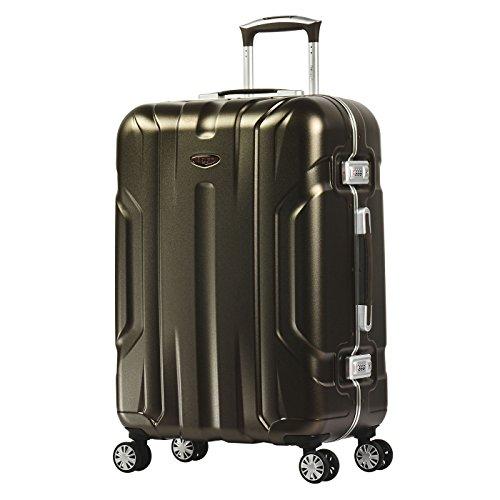 Eminent Gold Valigia X-dream 67cm 71L Bagaglio rigido 4 Ruote doppie silenziose Telaio in alluminio Maniglia telescopica regolabile e Doppio lucchetto TSA Marrone