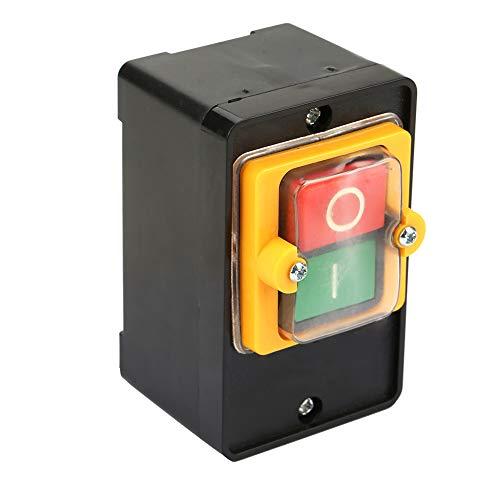 Interruptor de botón, interruptor de botón de encendido/apagado Interruptor de control impermeable -10KH AC220V / 380V 10A Interruptor impermeable para maquinaria textil