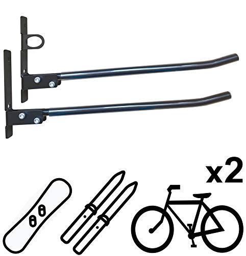 Vailantes® DOPP-1 Wandhalterung Für BMX-Fahrrad MTB Mountainbike Rennrad, Fahrräder - Wandhalter Für Die Garage Fahrradhalterung An Die Wand Fahrradhalter Bike-Halter Fahrradständer