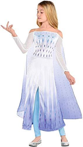 Disfraz divertido de princesa Elsa para niños y niñas, diseño de copos de nieve