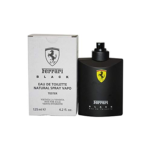 Ferrari Black Cologne by Scuderia Ferrari, 4.2 oz Eau De Toilette Spray for Men Tester