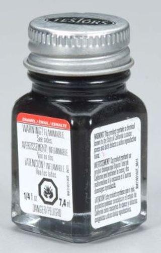 Semi Gloss Black Enamel Paint Testors 1/4 Oz