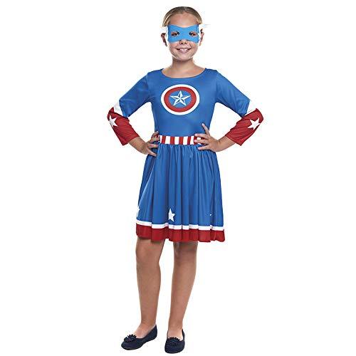 Disfraz Superherona Star Girl NiaTallas Infantiles de 3 a 12 aos[Talla 10-12 aos] | Disfraces Nias Superhroes Carnaval Halloween Regalos Nios Cosplay Cmics
