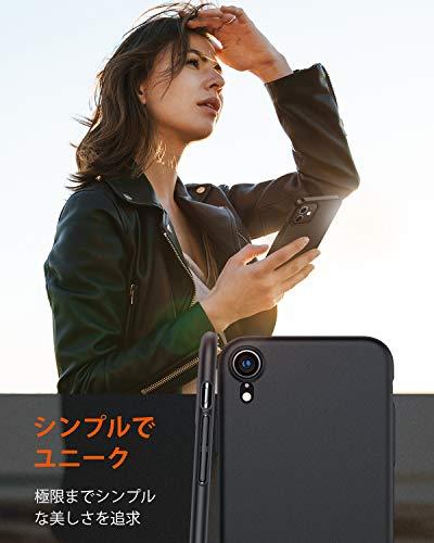 TORRASiPhoneXR用ケース6.1インチ超薄PCSGS認証ガラスフィルム付属指紋防止黄ばみなし擦り傷防止耐衝撃カバーブラックWisdomSeries