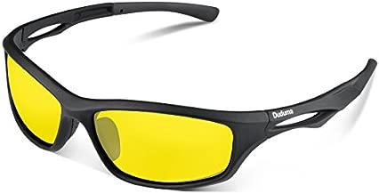 Duduma Polarized Sports Sunglasses for Men Women Baseball Running Cycling Fishing Driving Golf Softball Hiking TR90 Unbreakable Frame(Black Matte Frame with Yellow Lens)