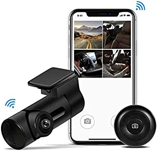 Yakola Y6 WiFi Dash Cam, Mini Car Camera, 360°Fisheye Panoramic Lens, 230°wide view angle, 1080P HD Dash Camera,24H Parking Monitor, Dashboard Camera Recorder,G-Sensor Loop Recording,HDR