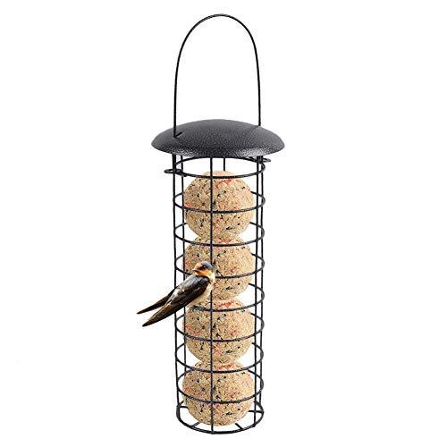 Ardorman Comedero para pájaros, Bola de Masa para Bolas de Grasa Bola para Colgar Balcón Exterior Comedero para pájaros Dispensador de Comida para pájaros pequeños pájaros Salvajes