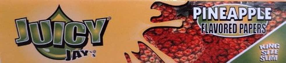 Juicy Jay 's'Ananas' sapor di cartine King Size - 12 quinterno (32 foglie ogni)