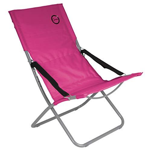 Nexos Campingstuhl klappbar Stahlrohr Gartenstuhl bis 110 kg abwaschbar pflegeleicht 80x60x92 cm 600D Farbe wählbar (Pink)