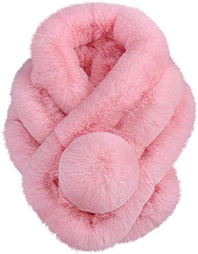 Soul hill Bufanda Caliente del Pelo regruesamiento (Color : Pink)