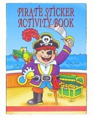 The Playwrite Group plc Pirate Autocollant Coloriage & Puzzle Cahier D'activités A6 taille