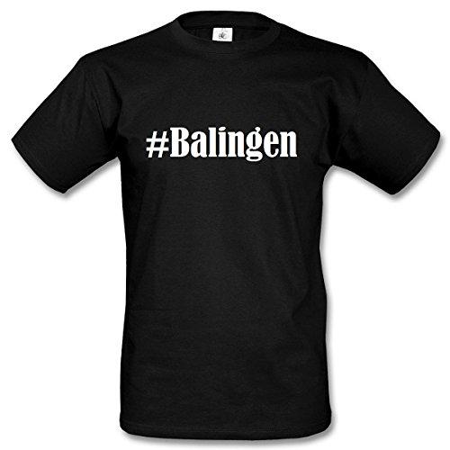 T-Shirt #Balingen Größe 4XL Farbe Schwarz Druck Weiss