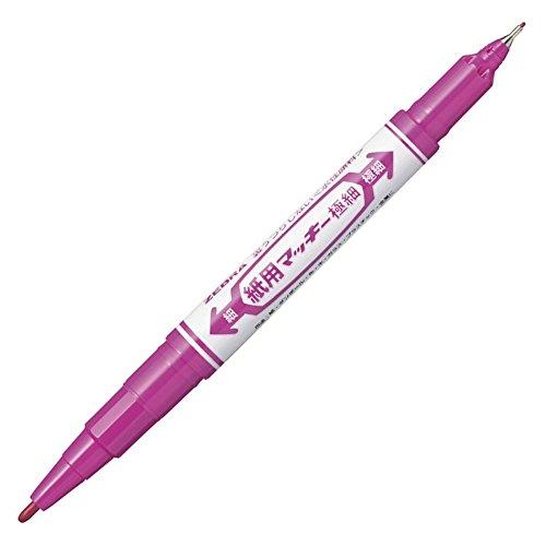 ゼブラ 水性ペン 紙用マッキー 極細 赤紫 10本 B-WYTS5-RP
