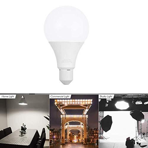 Andoer E27 30W LED-gloeilamp 5500K Fotografie Video Fotoverlichting Zacht daglicht voor foto Video Studio Commerciële thuisverlichting