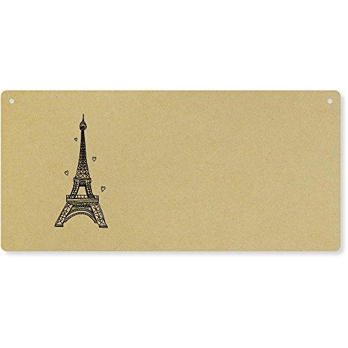 Azeeda 'Tour Eiffel' Plaque de Porte en Bois (DP00016187)