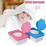 Dispensador de toallitas, dispensador de toallitas para bebés Estuche para toallitas para bebés El soporte para toallitas para bebés mantiene las fáciles de abrir y cerrar Contenedor de toallitas