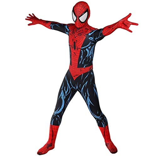 Costume de déguisement Spiderman PS4 Superhero Costume for Adulte Enfant Carnaval Halloween Jeu de rôle Thème Parti Props SPIDERSYBB (Color : Cosplay, Size : 175-180)
