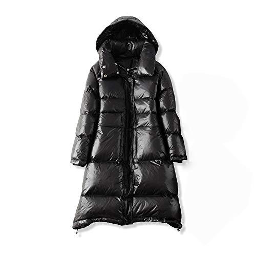 HQEFC Dames Winter Lange Jas - Waterbestendige Regenjas, Lichtgewicht Dames Jack, 2 Voorvakken, Warm - voor Nat Weer, Lopen
