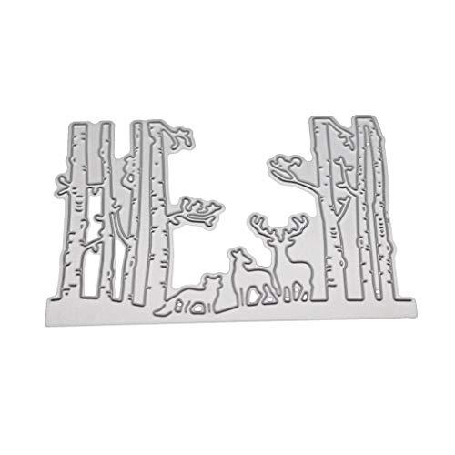 Ncbvixsw Wald Tiere DIY Stanzschablone, Metall Stanzformen Schablonen Scrapbooking Prägeschablonen, Handwerk Prägen Papier DIY Herstellung Geschenk Cutting Dies Neue W