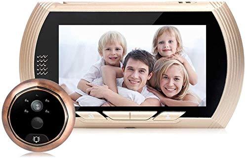 Sonnette vidéo sans fil 166 °, sonnette intelligente sans fil Wifi, interphone visuel à faible puissance 720P, conversation bidirectionnelle, caméra vision nocturne à infrarouge, détection mouveme