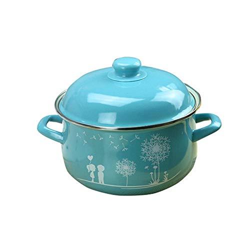 CJTMY Esmalte Sopa de Olla, Cocina de inducción Pot, Cocina Pot, Utensilios de Cocina Olla, instantáneo Pot, Utensilios de Cocina crisol de la Sopa Pot (Size : 26cm)