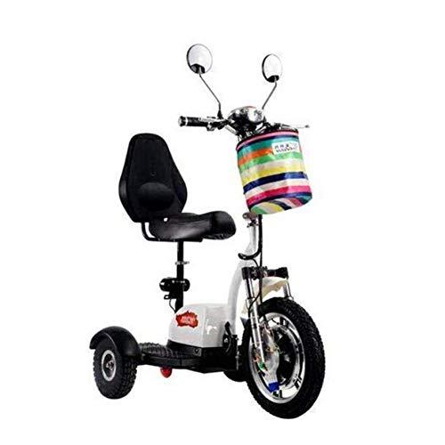 XYDDC Mini eléctrico Triciclo portátil Plegable al Aire Libre para Adultos de...