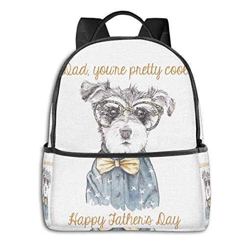Cute Dog Dad Best Giftfashion School Backpack Unisex Classic Lightweight Backpack Printing Cute for Boys Girls High School College Schoolbag Sloth