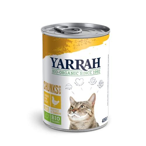 Yarrah Bio Bouchées au Poulet pour Chat 405 g - Lot de 6