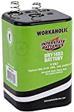 Interstate Batteries 6V HD Lantern Flashlight Battery (DRY1403) 6 Volt Workaholic Lantern for Camping, Hiking, Outdoors, Household (Spring Terminals)