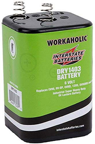 Interstate Batteries 6 Volt Battery, HD Lantern Battery (DRY1403)