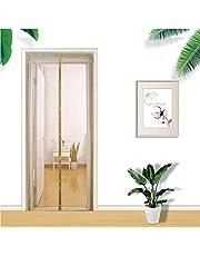 Magnetisch scherm deur borduurwerk handen gratis magnetische scherm deur glasvezel magnetisch gordijn met volledige frame haak en lus