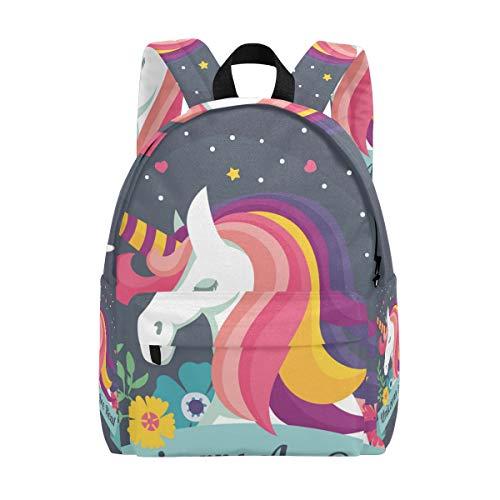 Unicorns are Real Kid Rucksack Kinder Twill Weave Schultasche Perfekt für Schule oder Reisen