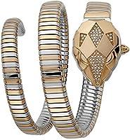 Just Cavalli JC1L073M0055 Ladies Set - Nascosto SET Snake Watch + Pocket Mirror Rose Gold TwoTone included