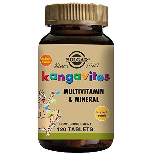 Solgar Kangavites tropisk stansning komplett multivitamin- och mineralformel tuggtabletter - paket med 120
