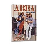 RUANRUAN Póster en lienzo con diseño de ABBA The Tour de los años 70, 60 x 90 cm