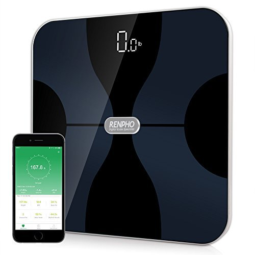 RENPHO Bluetooth Smart Digital Bathroom Body Fat Composition Scale Monitor with Body Weight, BMI, Body Fat, Water, Skeletal Muscle, Bone Mass, Protein, Calorie and Body Age