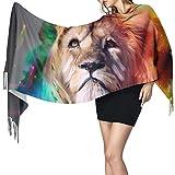 Bufanda de mantón Mujer Chales para, Resumen León Moda para mujer Mantón largo Invierno Cálido Bufanda grande Bufanda de cachemira