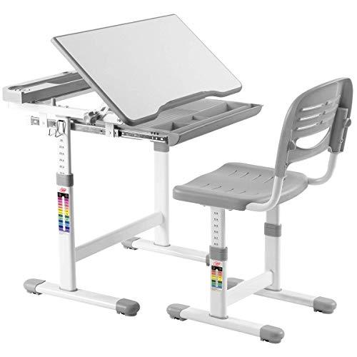 COSTWAY Schreibtisch für Kinder und Studenten, verstellbar, ergonomisch, erhältlich
