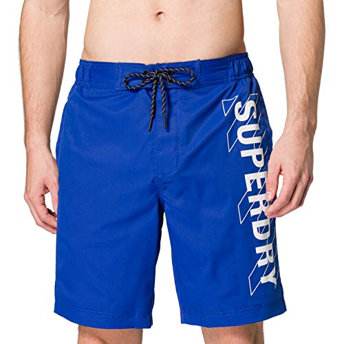 Superdry Mens Classic 19 INCH Board Shorts, Racer Cobalt, M