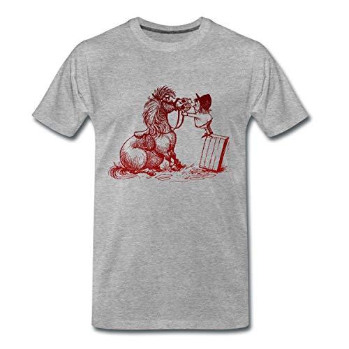 Thelwell Pferd Beim Zahnarzt Männer Premium T-Shirt, S, Grau meliert