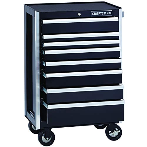 Craftsman EDGE Tool Cabinet, 26-Inch, 8 Drawer, Black (CMST40763BK)